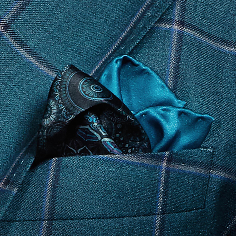 Pocket square folded in suit pocket
