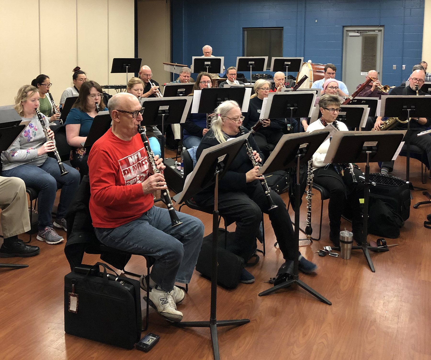 Woodwinds and Trumpets at rehearsal | December 2018