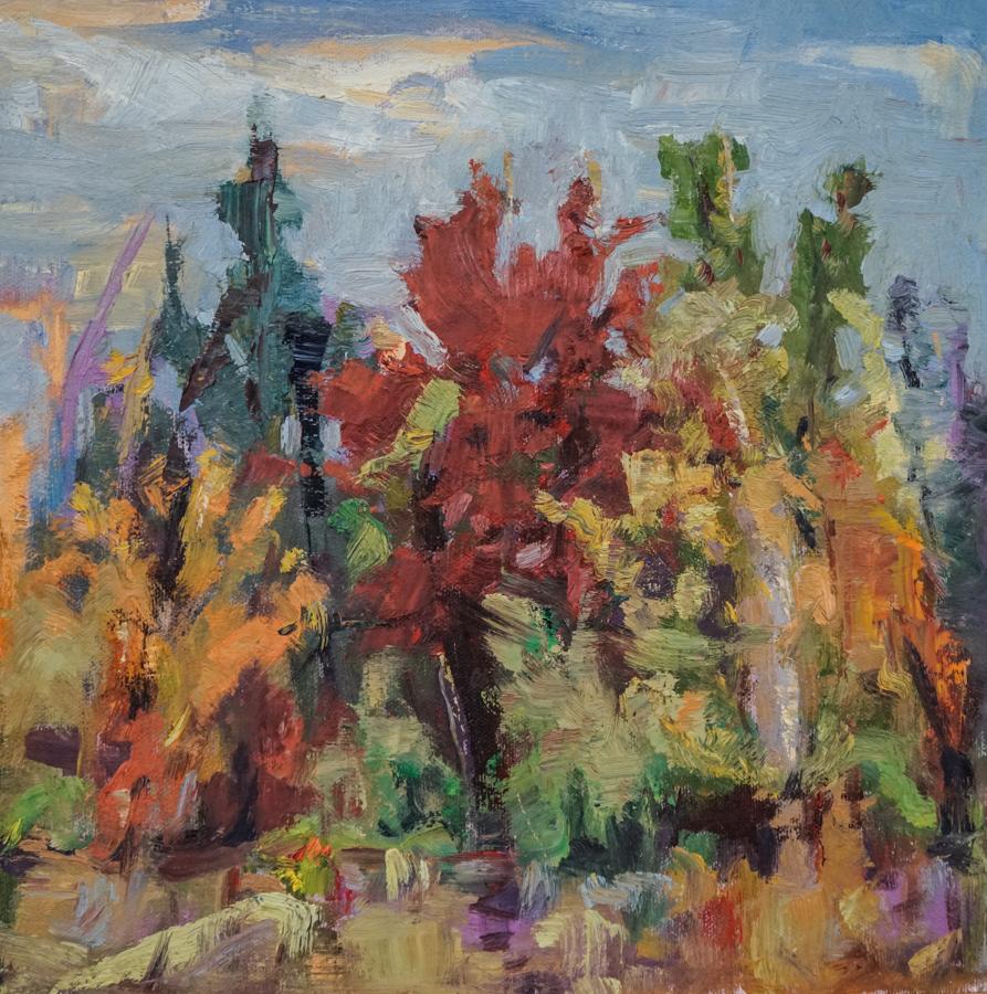 "Late Autumn, 12"" X 12"" oil on canvas"