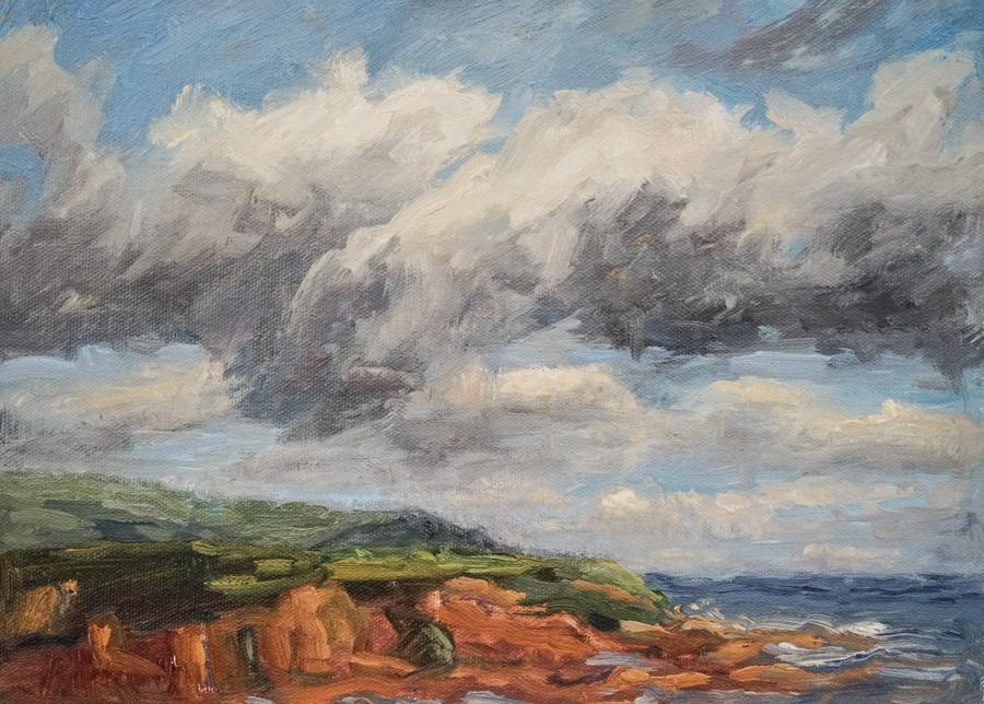"""Irish Coast, 9"""" X12"""" oil on canvas"""