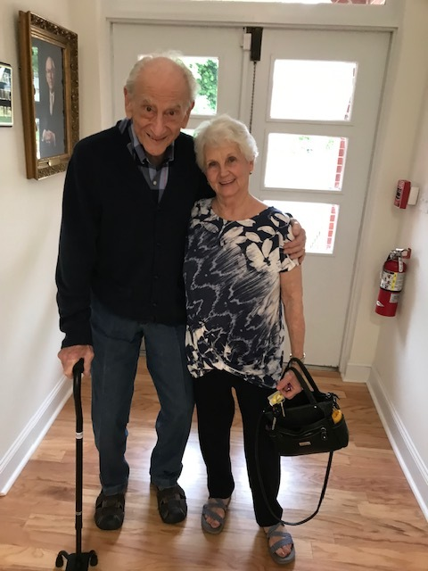 On May 1, 2019, Robert and Clara came by the Temple to take a look at the new Ackerman Exhibition Hall. We were glad to see Robert come by and show his deep interest in Temple Sinai. Robert is still active on the Temple Board and stays involved in all that is going on. Good to see you !!!