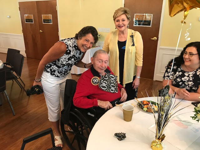 """Pictured are his daughters Donna and Sharon. Abe is featured in the Temple Sinai Jewish History Center as Sumter's survivor of the Holocaust. Abe served in the Air Force and came to Sumter from California where he met his wife of many years, Rhea. Abe was well known for """"Jacks Shoe Store"""" which he operated in Sumter and other locations for many years. Many of Sumter's young men had their first job working for Abe. Much continued happiness Abe. !!!!!!"""