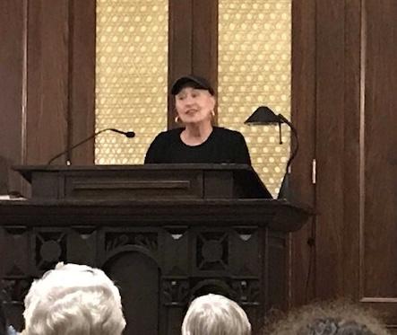 Rachel Barnett, Program Director for the Jewish Historical Society of South Carolina , giving opening remarks.