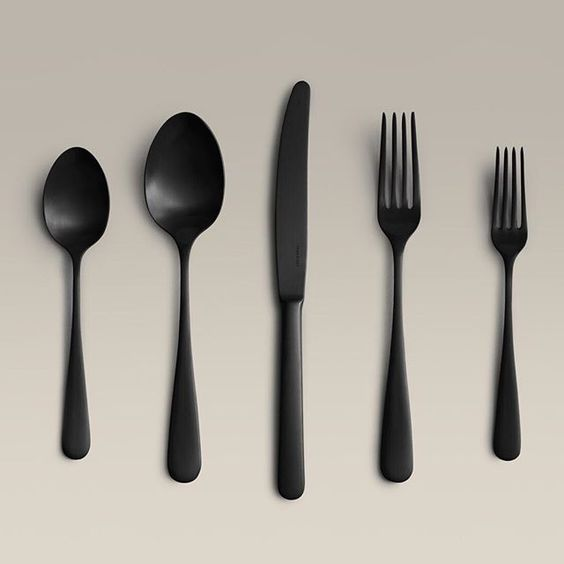 FLATWARE - Matte Black SteelYear & Day