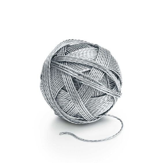 everyday objects - Sterling Silver Ball of Yarn Tiffany & Co.