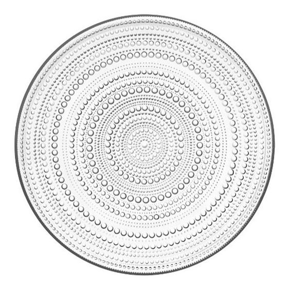 Glass droplet plate - Kastehelmi by Oiva ToikkaIittala