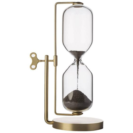 Timeless Brass and Iron Hourglass by Ctrlzak Studio, Italy | 1stdibs