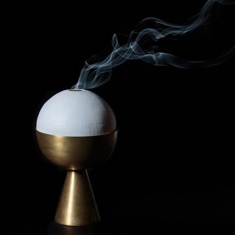 INCENSE BURNER - Brass With Porcelain DomeApparatus Studio