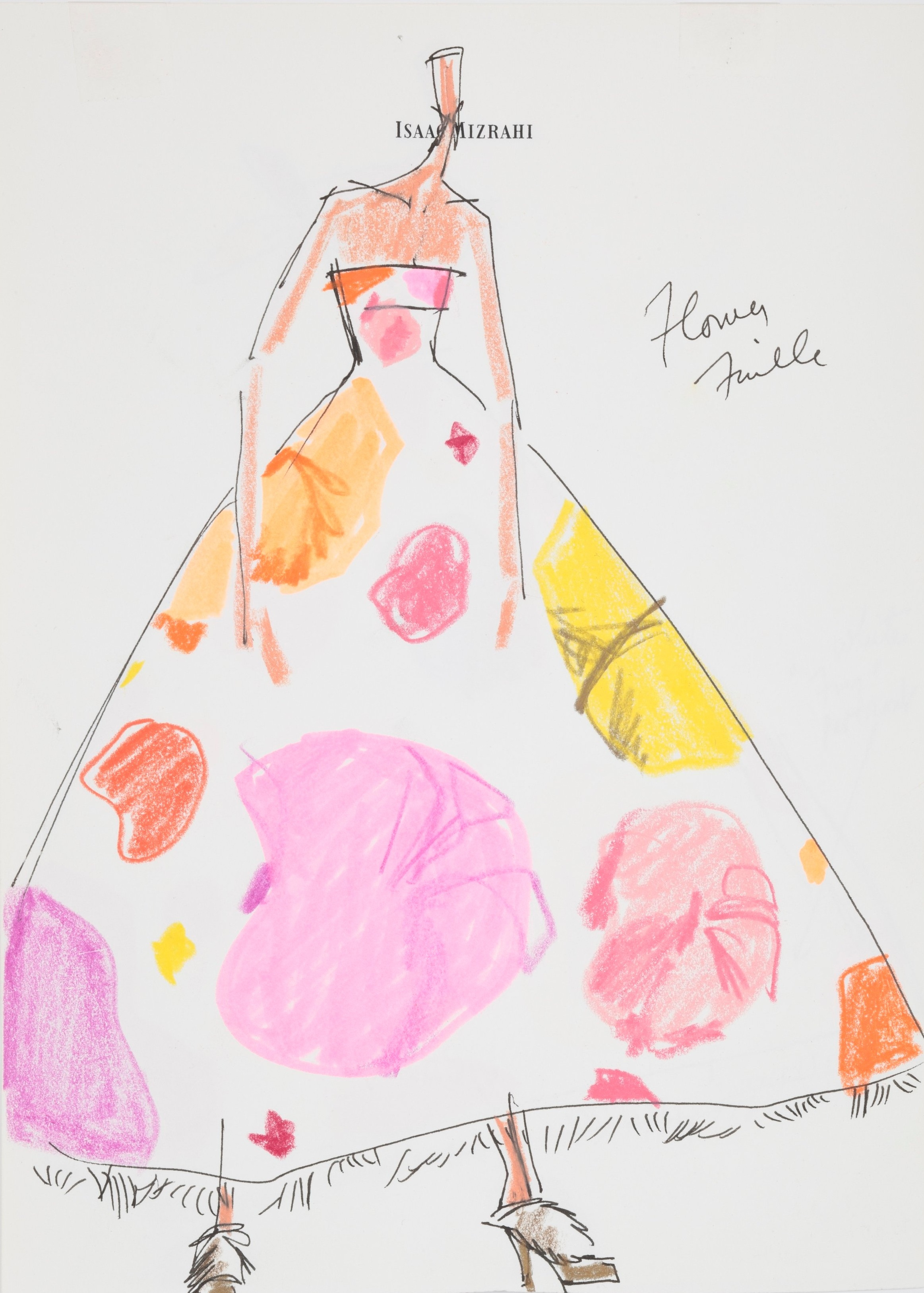 Sketch for Everyflower Dress, Fall 2007 | Photo by Jason Frank Rothenberg