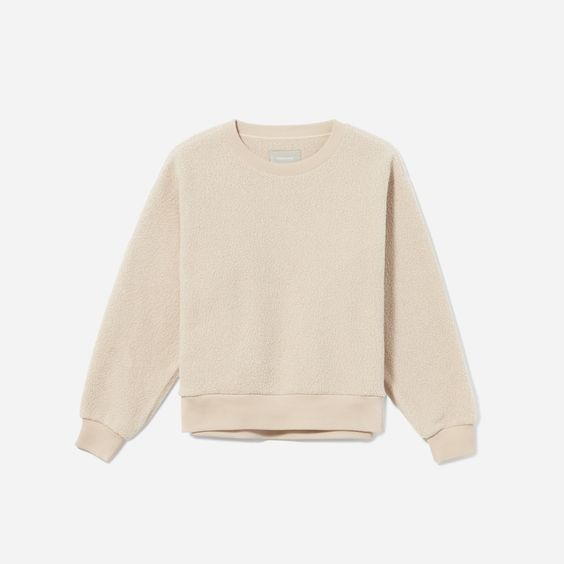 Revitalize | The ReNew Fleece Sweatshirt made from recycled plastic bottles by Everlane