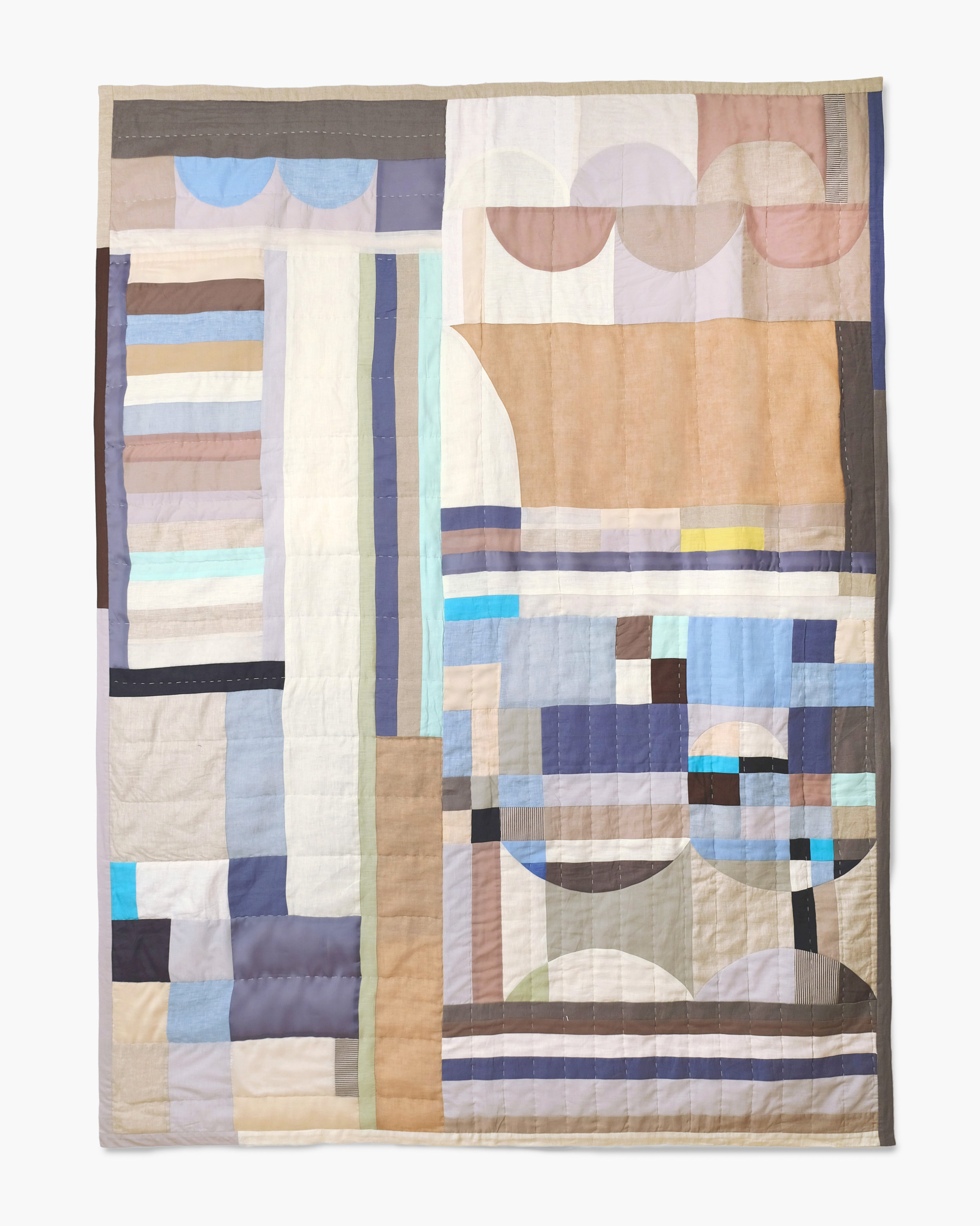 Line Quilt Blue by Thompson Street Studio