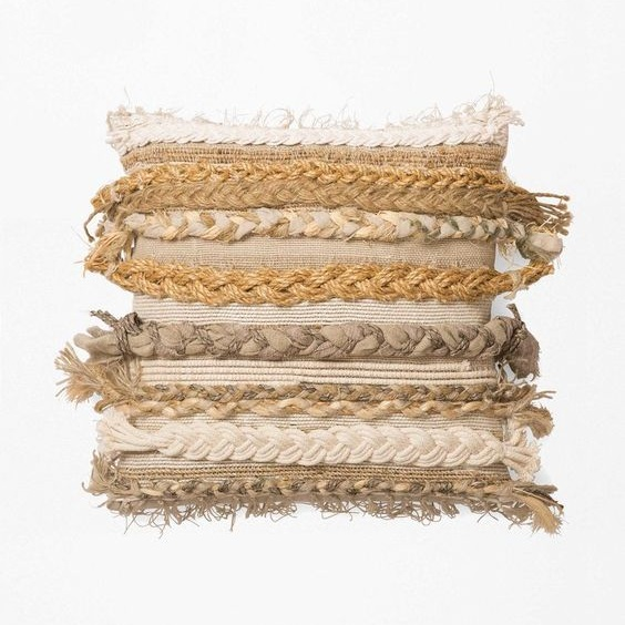 Braided Woven Pillow by Thompson Street Studio