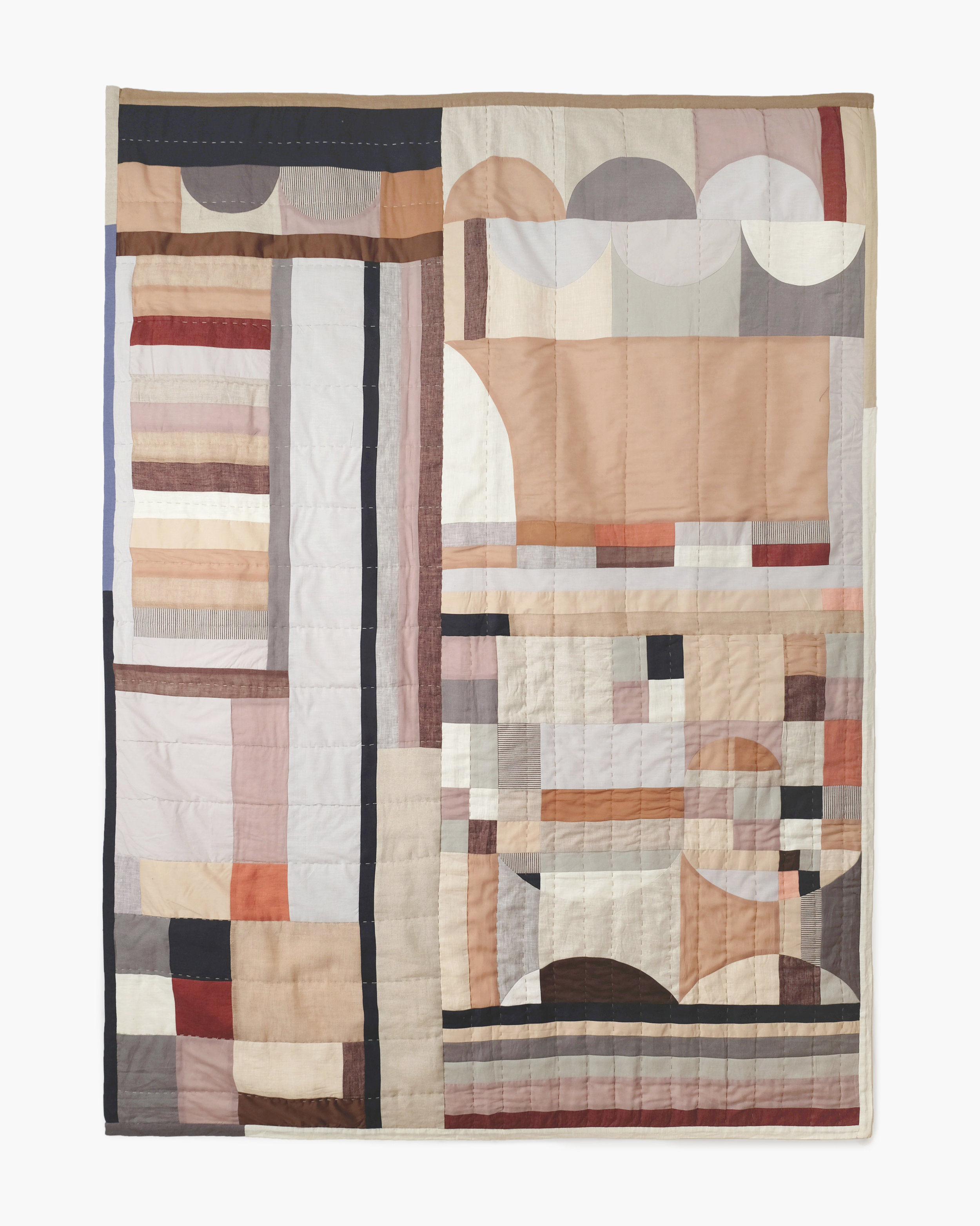 Line Quilt Rust by Thompson Street Studio