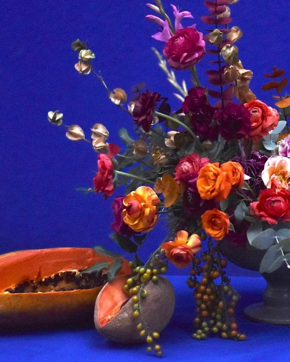 Flower Arrangement by Ingrid Carozzi of Tin Can Studios – Workshop & Masterclass in Mexico City at La Casa Azul