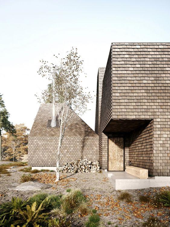 Cozy retreat in the Catskills, Upstate New York by Paris-based Corpus Studio