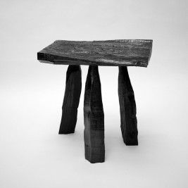 Urushi Lacquer Stool by Max Lamb