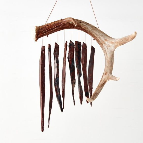 Deer Antler Wind Chime by Obsidian Windchimes