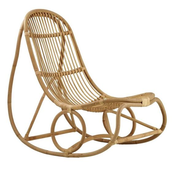 Nanny Rocking chair - Designed by Nanna Ditzel in 1961Sika DesignDitzel rebuffed traditional design concepts and managed to successfully build her own, unique style consisting of organic, soft and feminine lines.