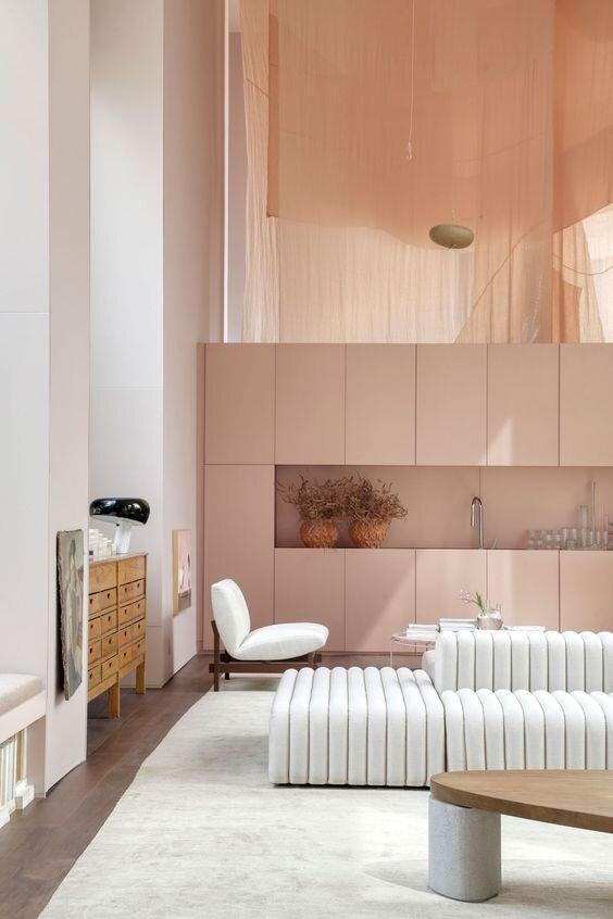 Pink Interior by BC Architects, Sao Paulo, Brazil