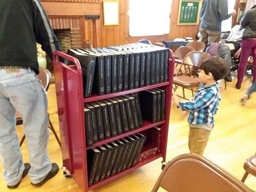 The author's son, Miguel, was an enthusiastic and very cute helper while we cleaned up after the service.
