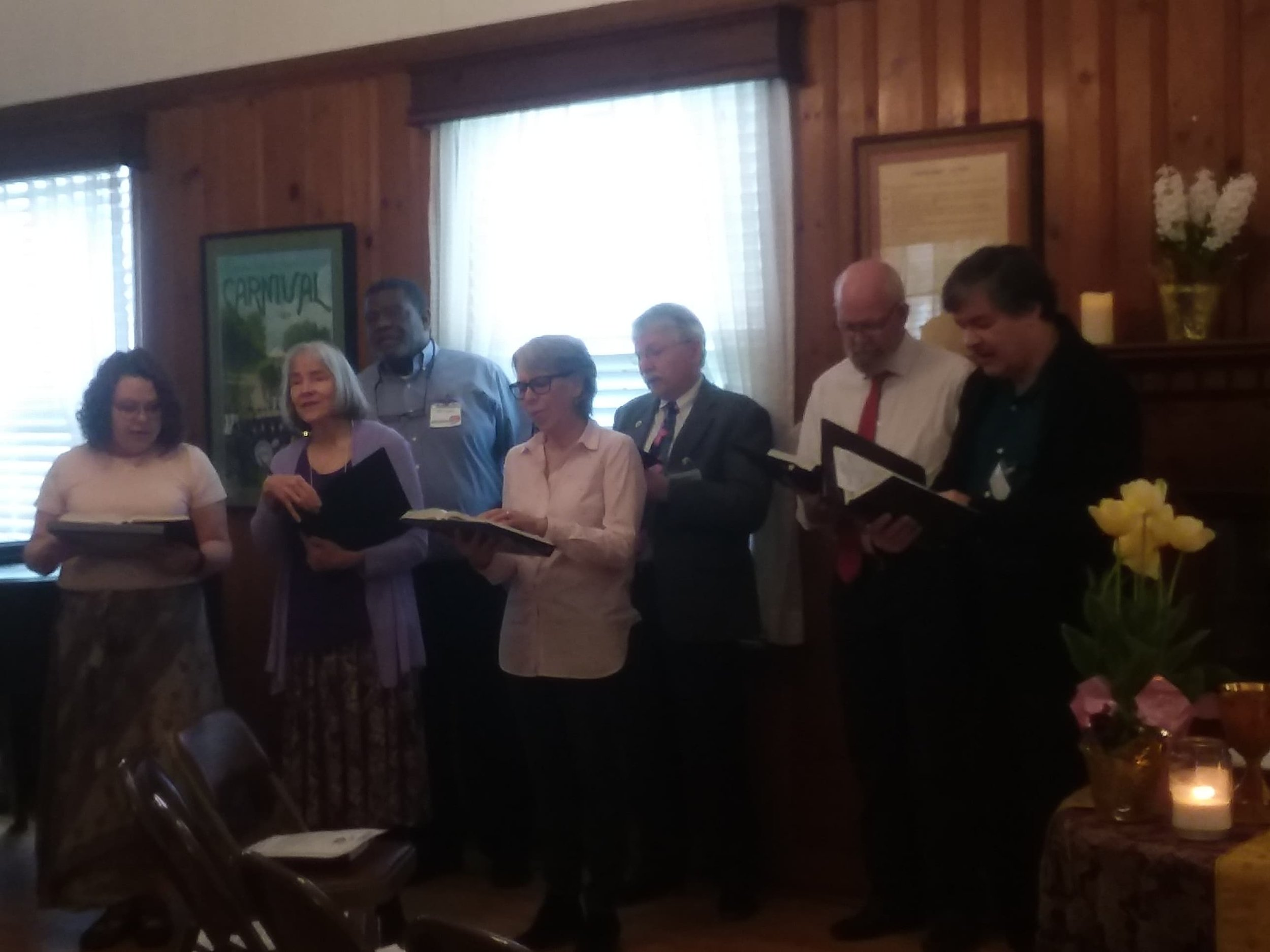 The Easter  Choir  set the tone with a lovely prelude.