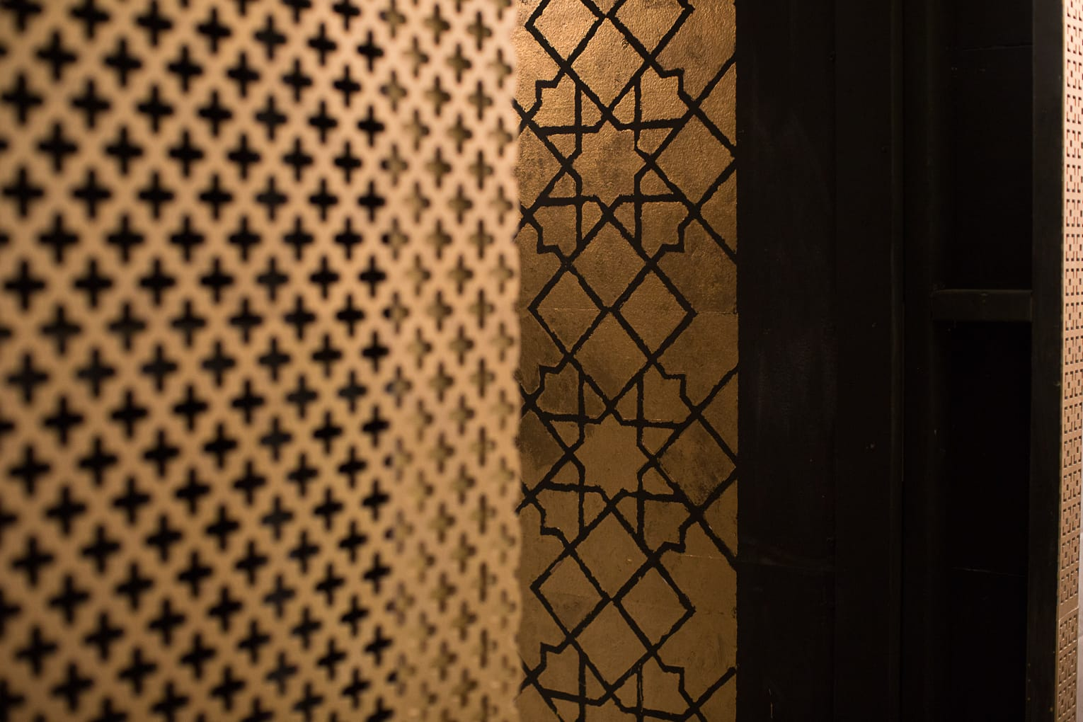 Viva Hammam has been designed with beautiful geometric prints and stunning gold prints