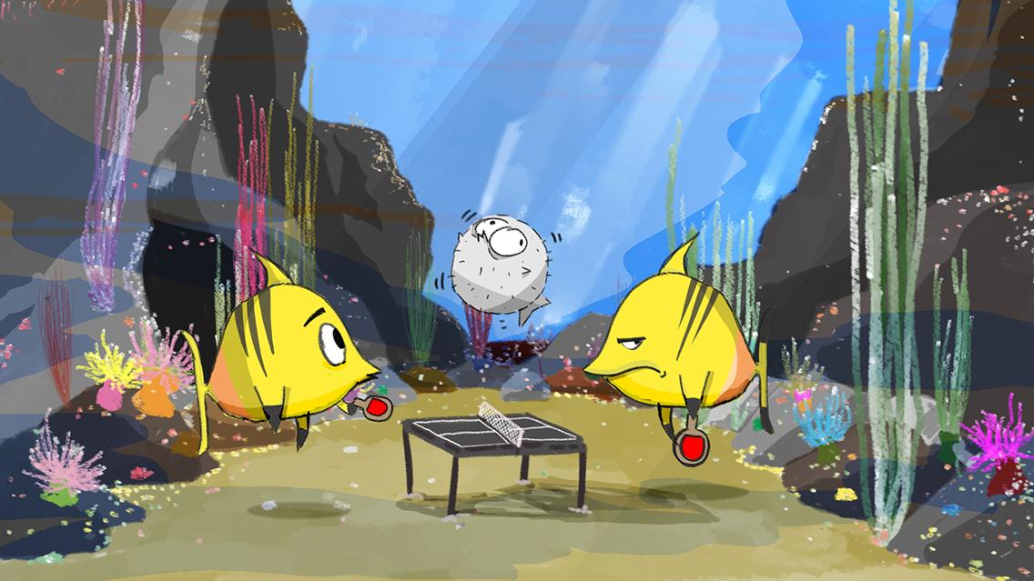 Speed Painting [09] 05/04/2018: ping pong fish/pesci ping pong
