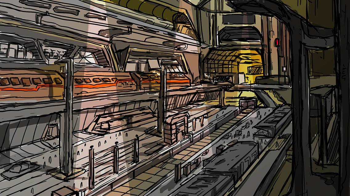 Speed Painting [73] 02/06/2018: stazione/station