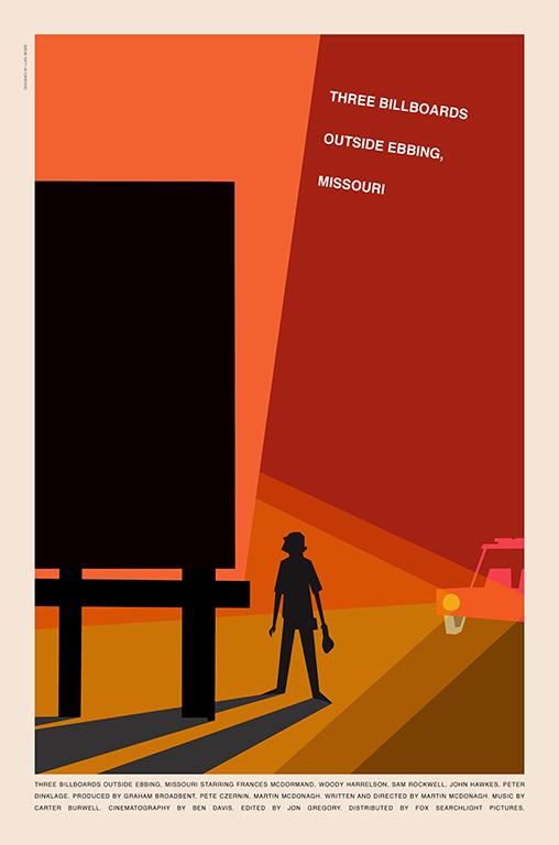 Three Billboards Outside Ebbing, Missouri poster by Luigi Segre