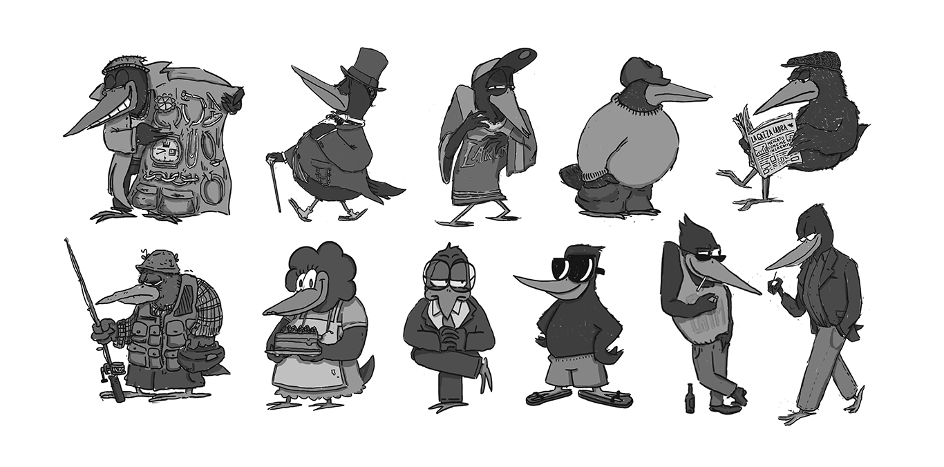 Contenuti_Low_Res_Luigi_Segre_Drawings_2018_Character_Design_Collection_Seagulls_Mob_and_Gypsy_Pigeons_Collection_02.jpg