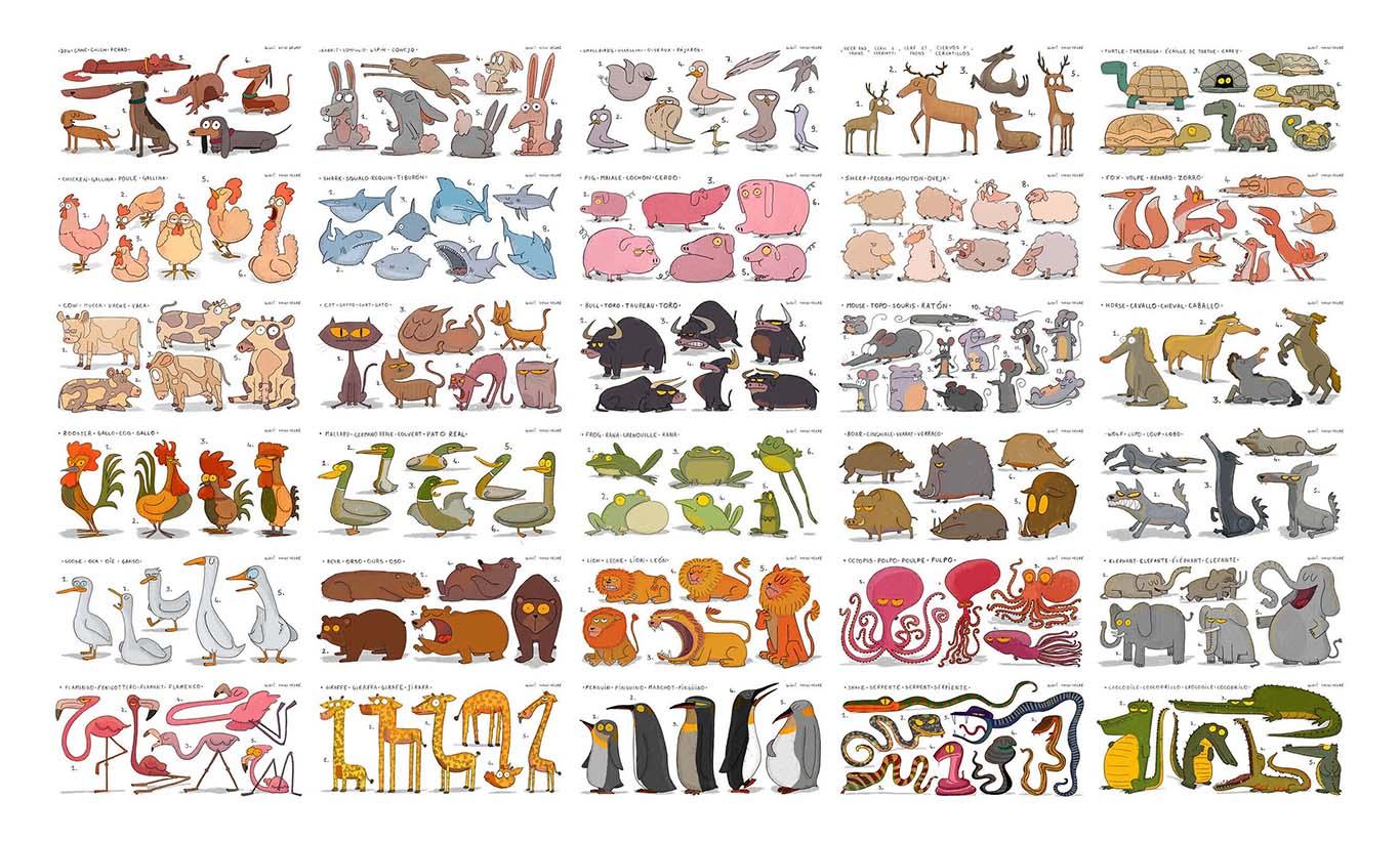 Contenuti_Low_Res_Luigi_Segre_Drawings_2018_Character_Design_Character_Sheet_03_Animal_Cards.jpg