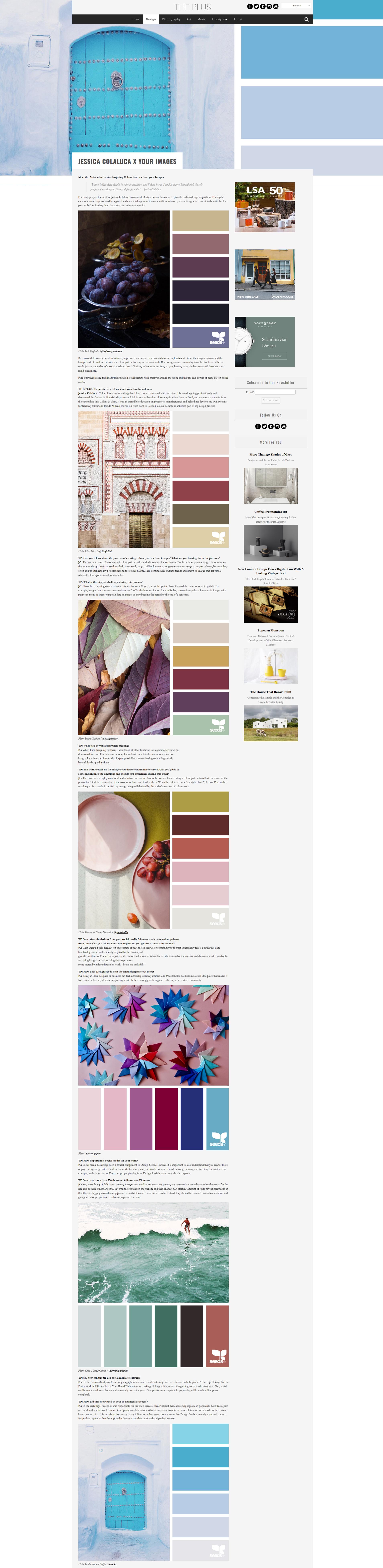 THE PLUS interview | Jessica Colaluca | Design Seeds