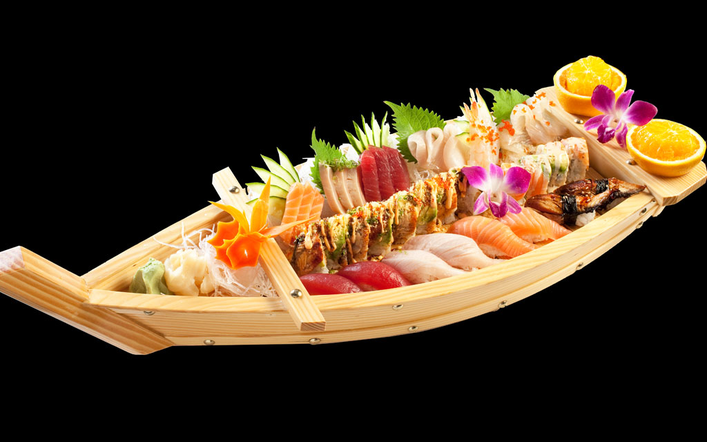 SUSHI BOAT COMBO - — CATERING AVAILABLE —
