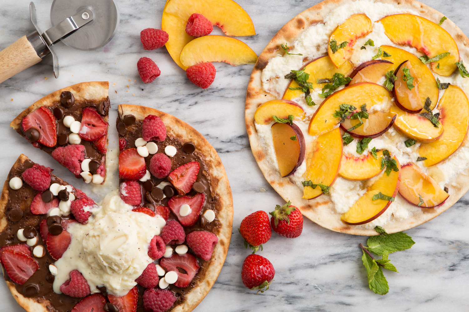 Fresh Fruit Grilled Pizzas (Door to Door Organics)