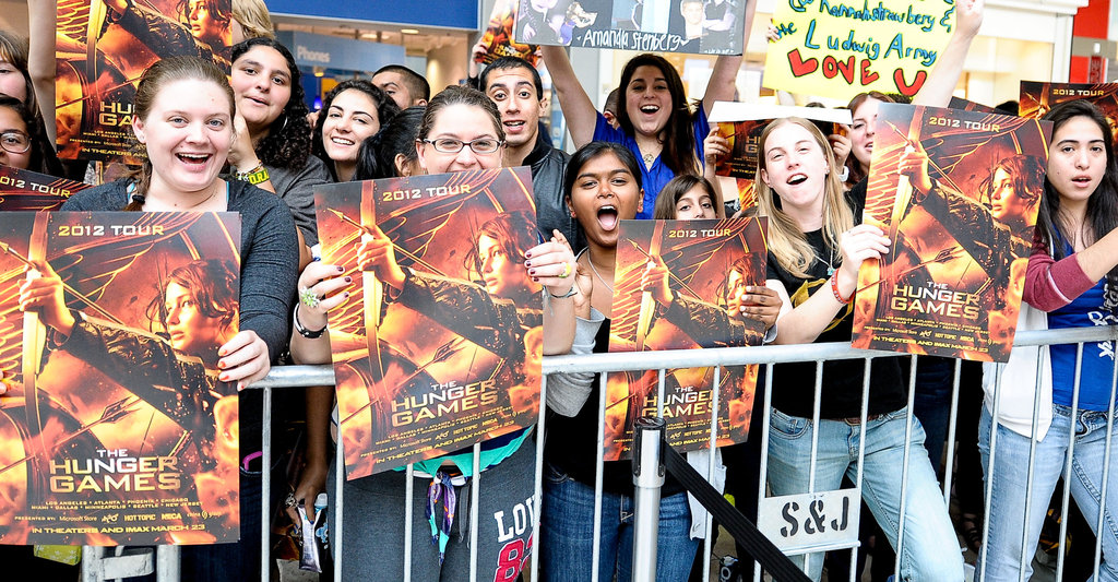 """Fans of """"The Hunger Games"""" waited for the cast earlier this month in Plantation, Fla. Credit Gustavo Caballero/Getty Images for Allied-THA"""