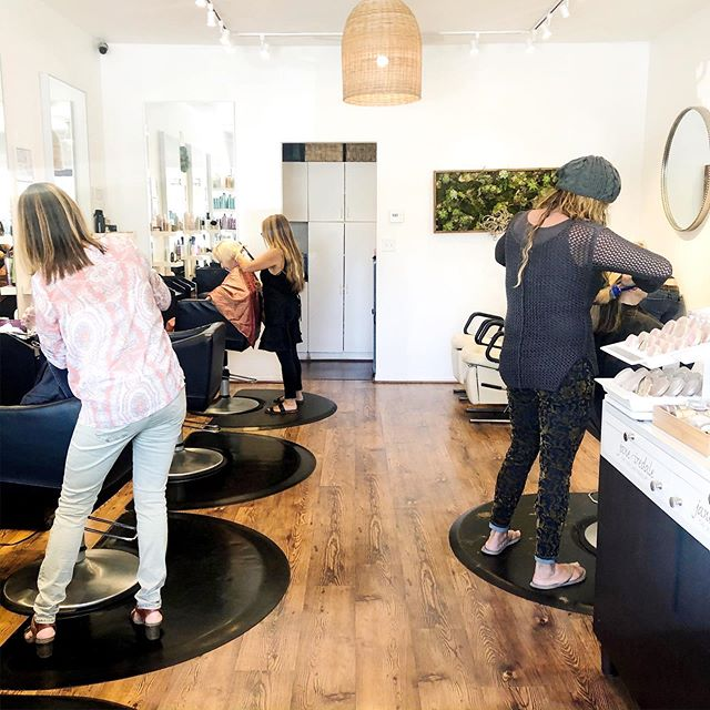 The talented ladies at Blossom Salon working their magic. Looking for great hair stylists? Call 805 884 4680. Located in our lovely Arlington Plaza ☀️