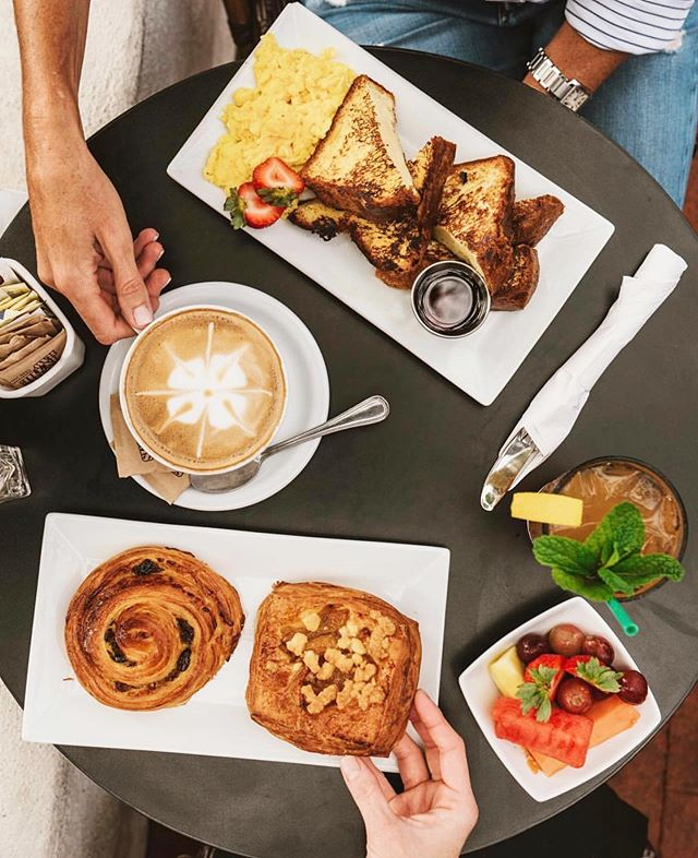 Renaud's - Our go-to breakfast spot, serving up the best of artisanal French pastries and European style dishes. Open daily from 7am and located in our lovely Arlington Plaza ☀️ Congratulations for being voted Best Bakery by @sbindependent 👏🏻👏🏻👏🏻👏🏻