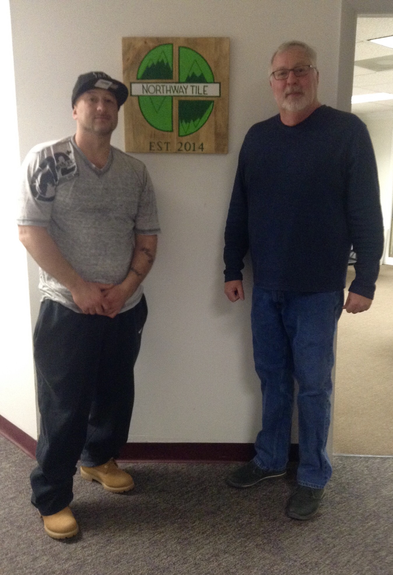 Mark (left) & Bob (right) at Northway Tile HQ