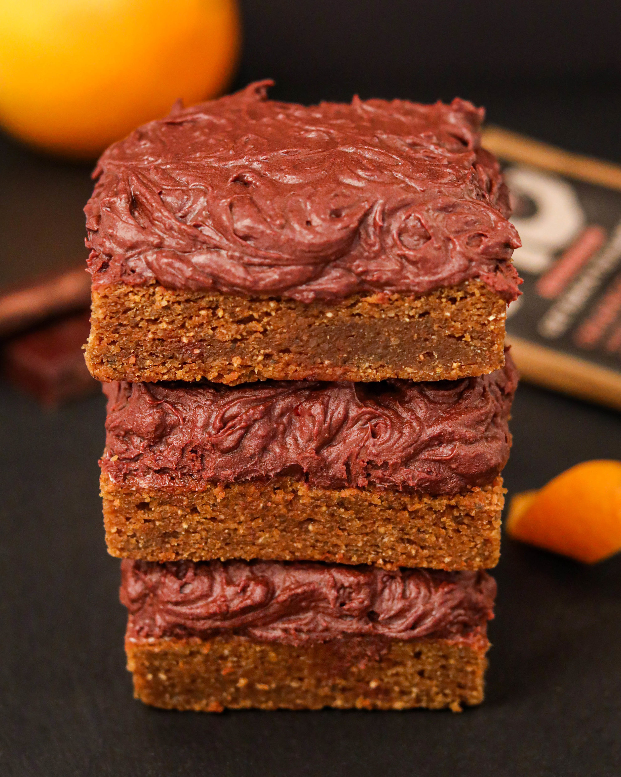 Orange Vegan Chocolate Ganche