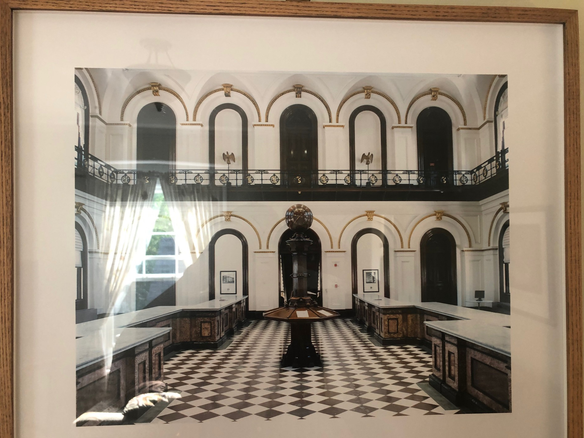 My first piece of MECA art, a framed photo of the interior of the U.S. Custom House by Mark Marchesi.