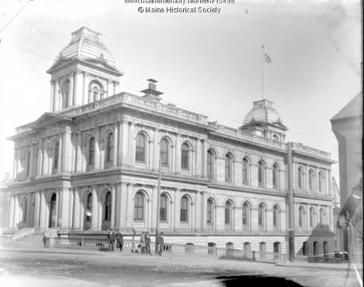Historic Photo of U.S. Custom House    (credit: Maine Historical Society)