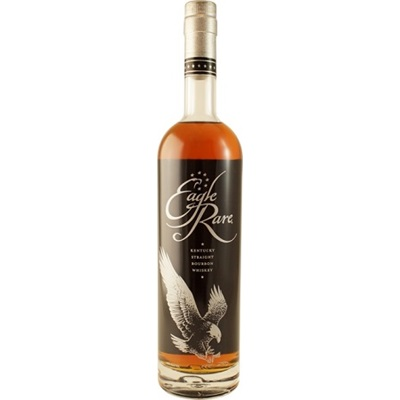 EAGLE RARE  AROMA  Complex, with aromas of toffee, hints of orange peels, herbs, honey, leather, and oak  TASTE  Bold, dry, and delicate with notes of candied almonds, and very rich cocoa  FINISH  Dry and lingering
