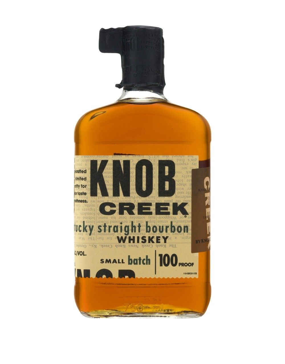 KNOB CREEK  AROMA  A classic bourbon with a caramel scent and hints of vanilla. Some cinnamon notes and maple syrup. Soft oak accompanies a light hint of corn.  TASTE  Strong caramel flavors with a hint of vanilla. A slightly musty corn flavor runs through with some full-bodied oak balancing it out. Plenty of bourbon spice and some notes of malt that help round out the whole palate  FINISH  Caramel dominates the aftertaste and is followed up with some corn, grainy cherry like fruit and a solid wood underpinning