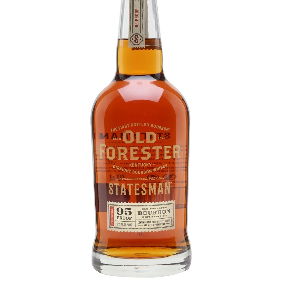 OLD FORESTER STATESMAN  AROMA  Clove, chocolate, coconut, and vanilla  TASTE  Leather, brown butter, cinnamon, and grapefruit  FINISH  Long with baking spice, eucalyptus, and candied orange