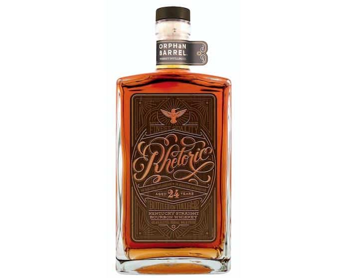 RHETORIC 24 YEAR  AROMA  Oaky, vanilla aromas, followed by brown sugar and chocolate  TASTE  Flavors of orchard fruits enhanced by subtle baking spice  FINISH  Warm finish of caramel and nutmeg