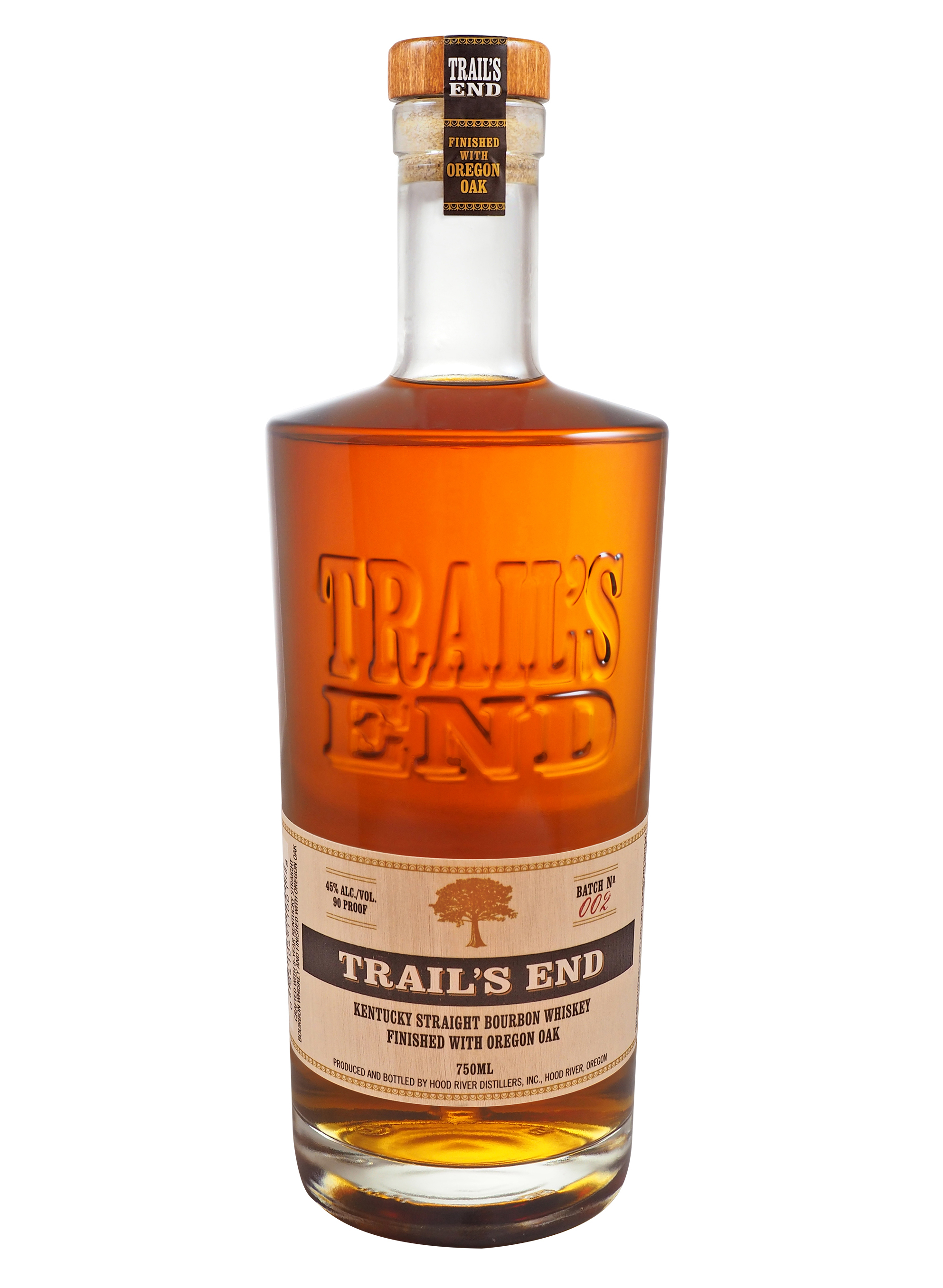 TRAIL'S END  AROMA  Rich, nutty spice and string tannings  TASTE  Creamy crème brulee and caramelized plantain. Notes of walnut, hazelnut, and nutmeg stand out  FINISH  Dry and spicy without astringency or sourness. Warm finish with a faint sweetness