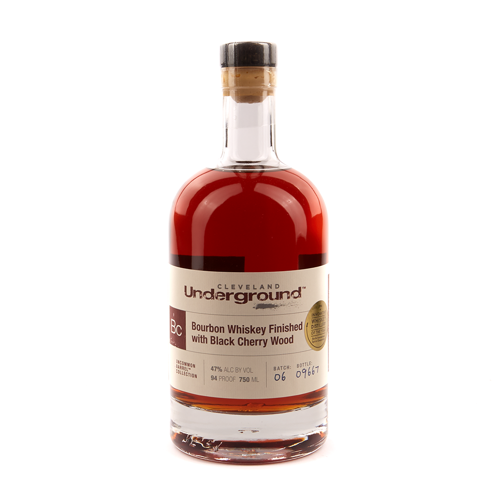 CLEVELAND BLACK CHERRY FINISH BOURBON  AROMA  Vanilla and sweet toffee  TASTE  Light, with almost tender sweetness and notes of baking spices and raisin.  FINISH  Medium length with a dry tartness