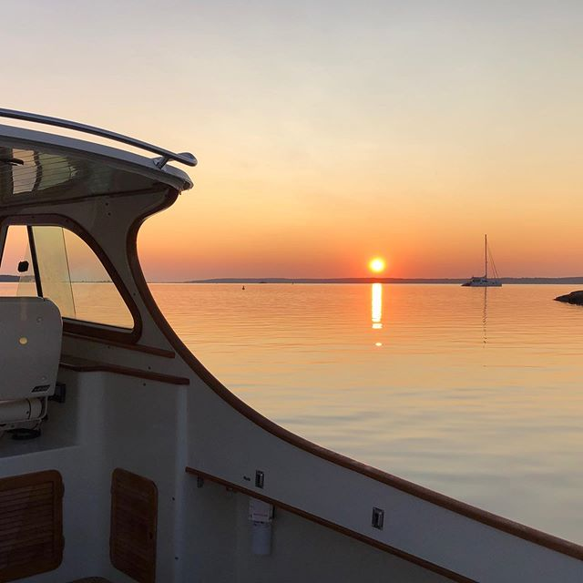 Good morning Sag Harbor. #hamptons #yachtmanagement #myoffice