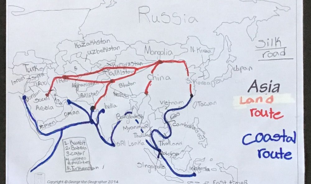 Study of the Silk Road in Asia