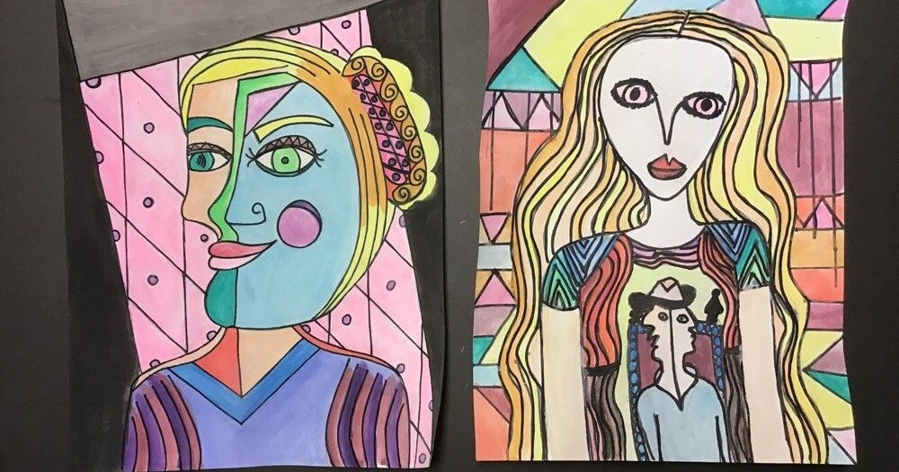 Picasso self-portraits by student and teacher